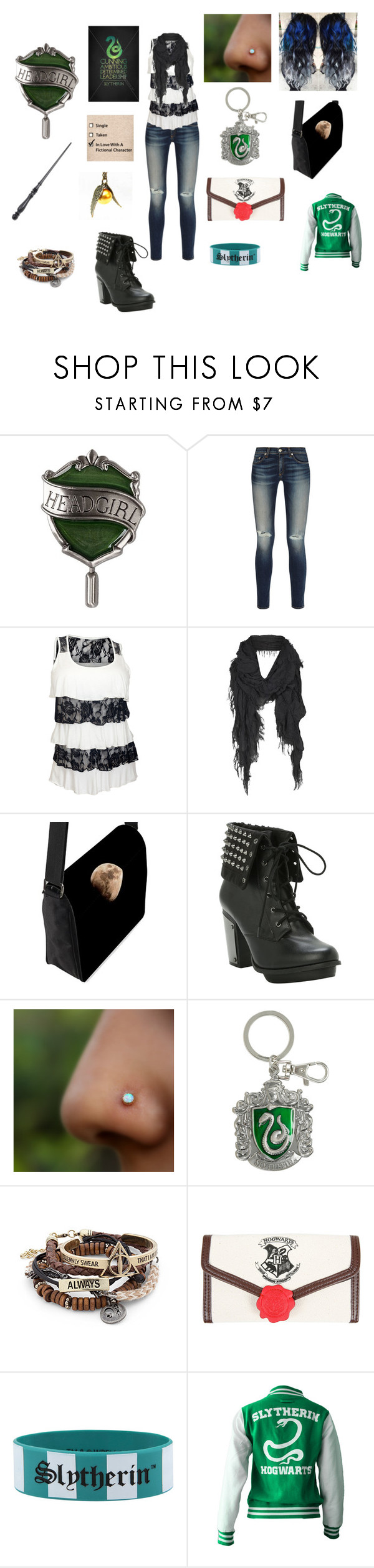 """Harry Potter OC ( weekend clothes)"" by the-blueglasses ❤ liked on Polyvore featuring rag & bone, AllSaints and Warner Bros."