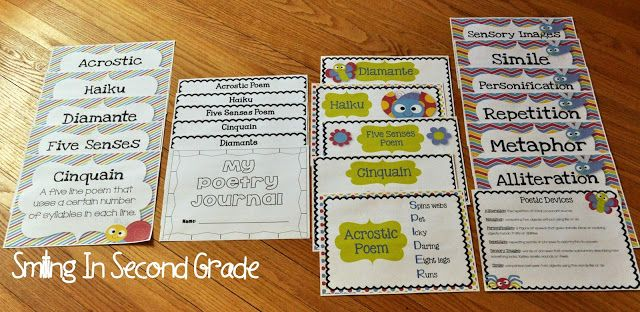 Smiling in Second Grade: poetry notebooks