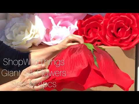 Shopwildthings giant silk flowers for walls and backdrop design shopwildthings giant silk flowers for walls and backdrop design youtube mightylinksfo