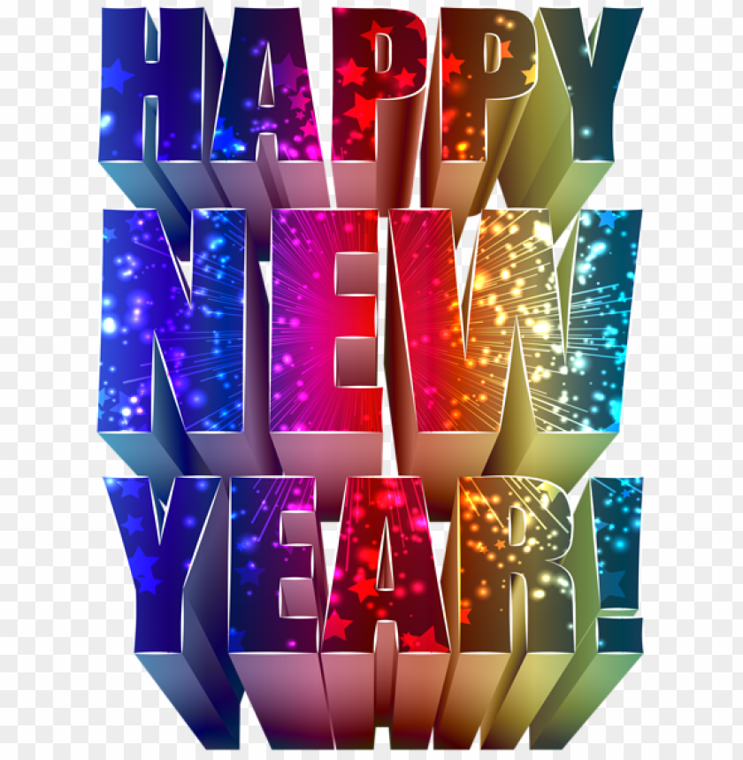 Happy New Year Text Decoration Png Image With Transparent Background Png Free Png Images Happy New Year Text Happy New Year Png New Year Text
