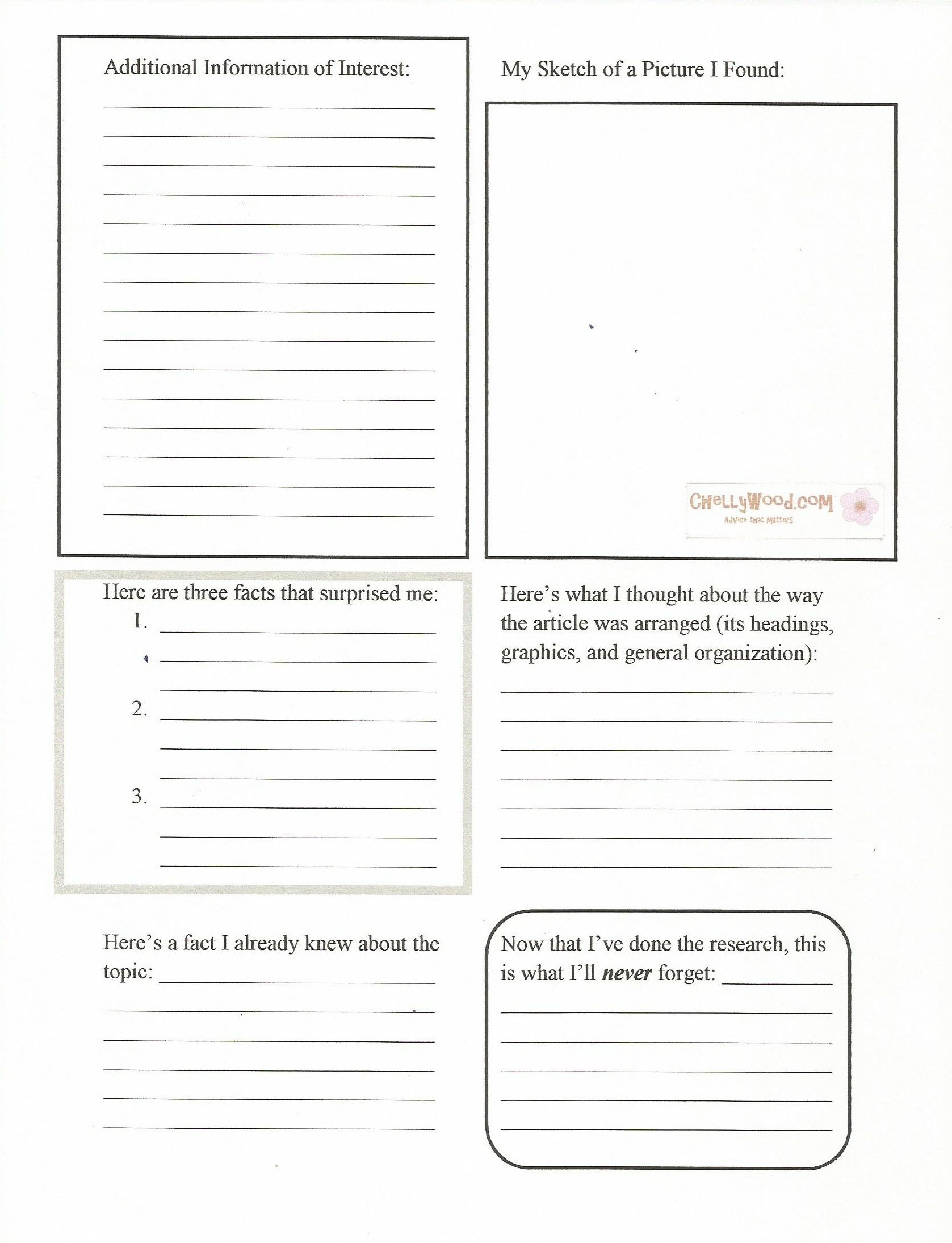Worldbook Research Worksheet For Middle Schoolers Pg 2 Comes From My Englishemporium Wordpress