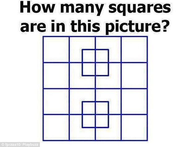 Can You Tell How Many Squares Are In This Picture Funny Puzzles This Or That Questions Tricky Questions