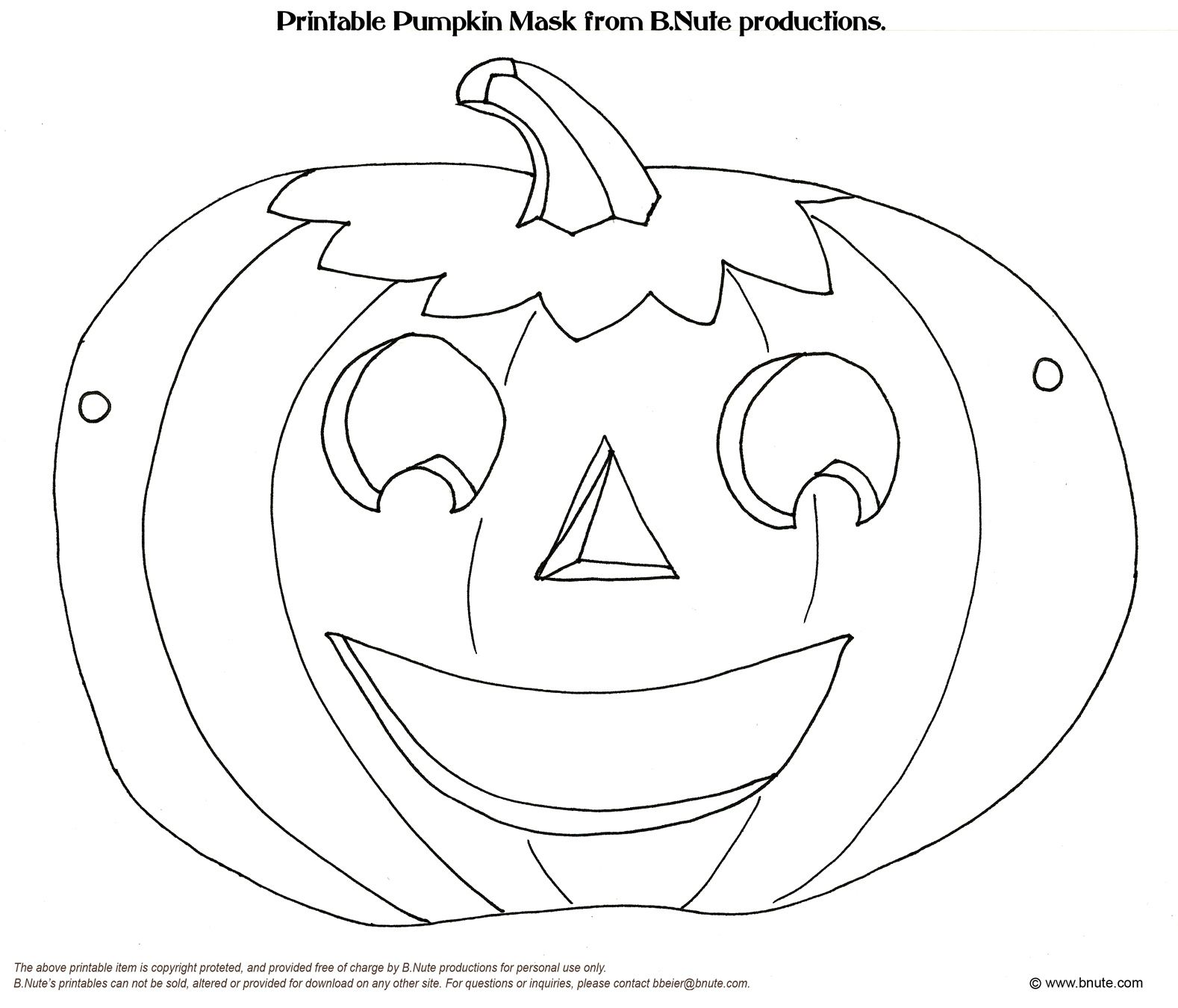 Old Fashioned Halloween Party Printable Halloween Mask