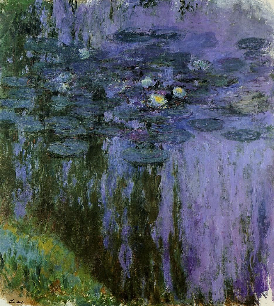 claude monet water lilies | claude monet - water-lilies-1919-6 | Visual Art