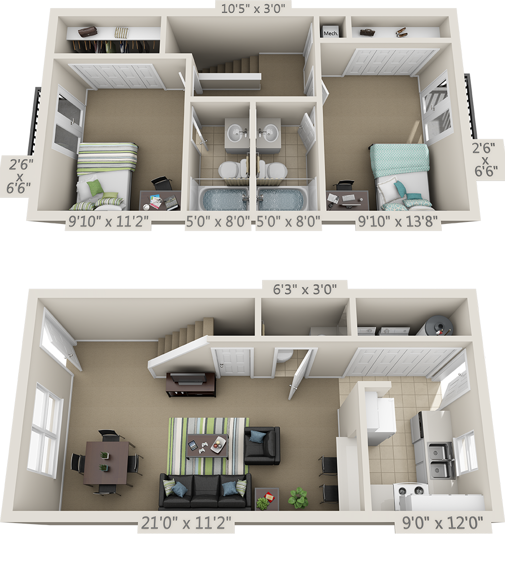 Floor Plans College Park Apartments Grundriss In 2019