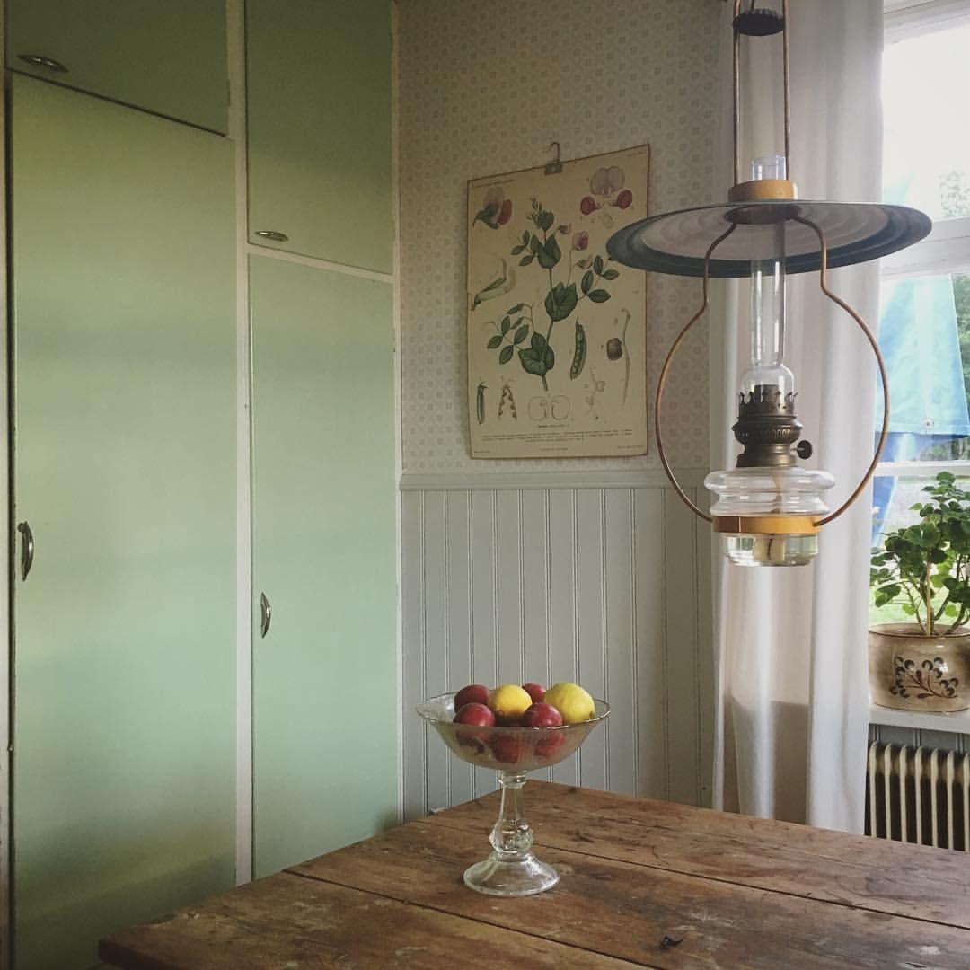 Skåpfärg panel tapet från underbaraclaras instagram kök