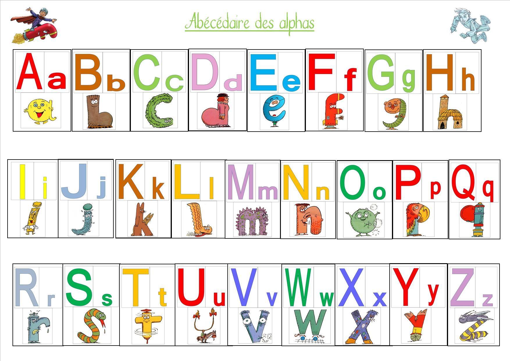 Abecedaire Des Alphas Alphas Les Alphas Maternelle Abecedaire Maternelle