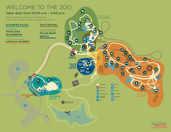 The Maryland Zoo Park Map Printed maps are provided with your