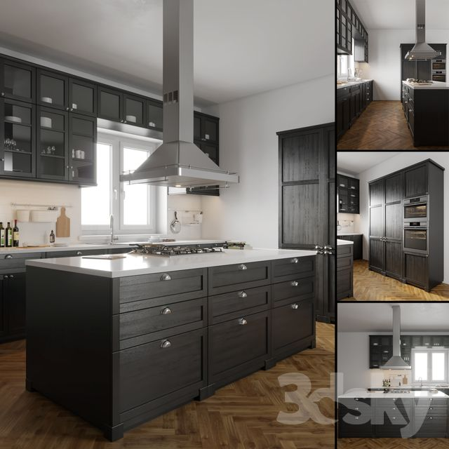 Best 3D Models Kitchen Ikea Lerhyttan Luxury Kitchen 400 x 300