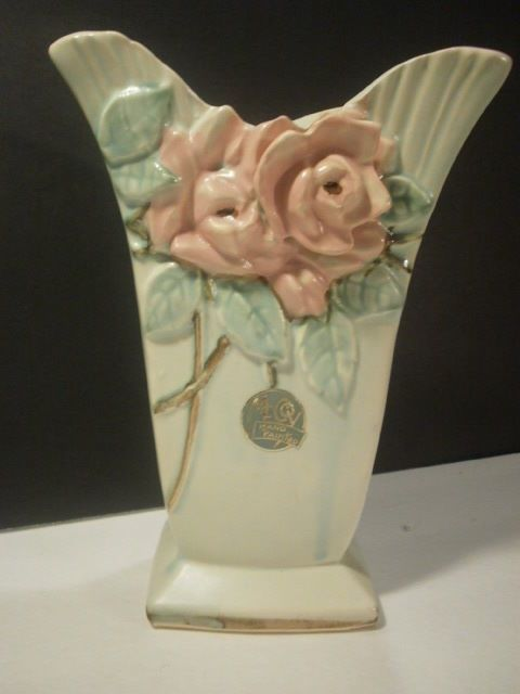 Mccoy Vase Wild Rose Beautiful With Label Mccoy Other