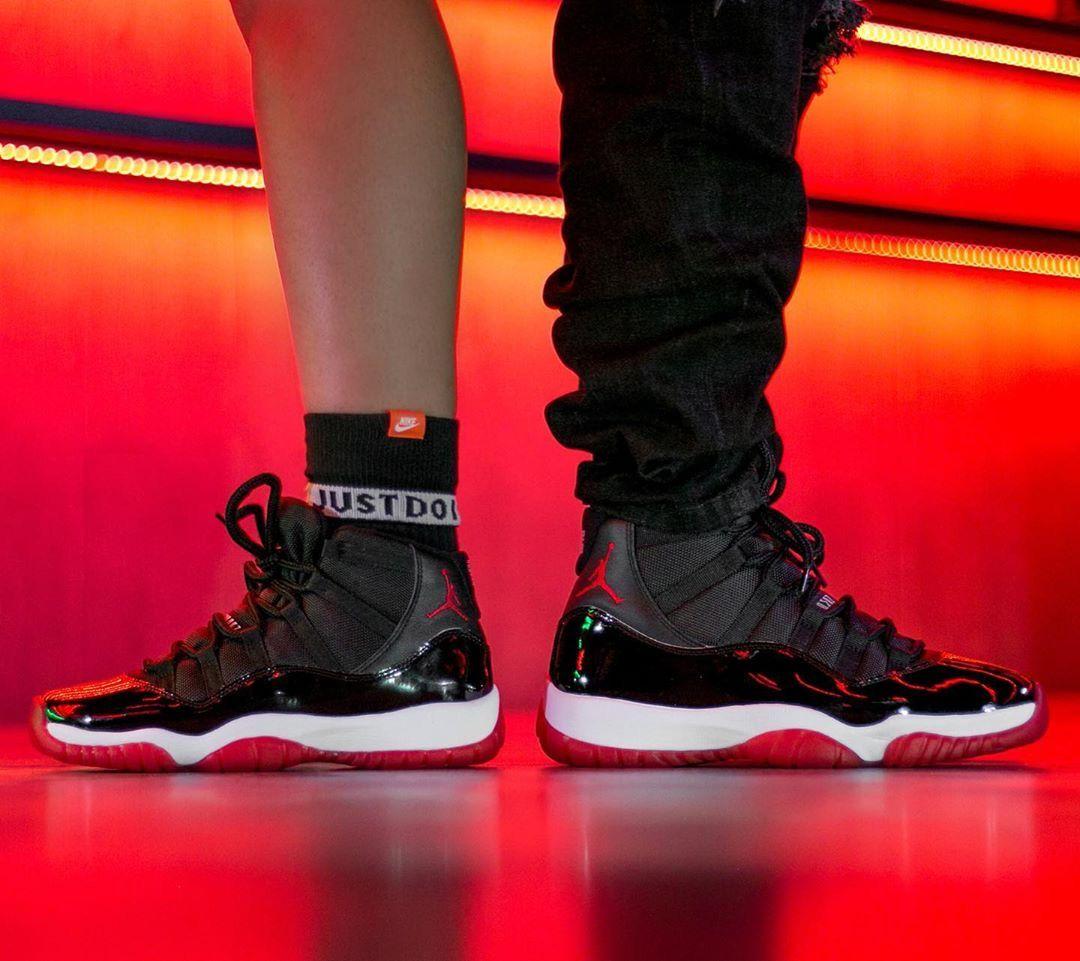 Jordan 11 Retro Playoffs Bred In 2020 Air Jordans Air Jordan 11 Bred Jordan 11
