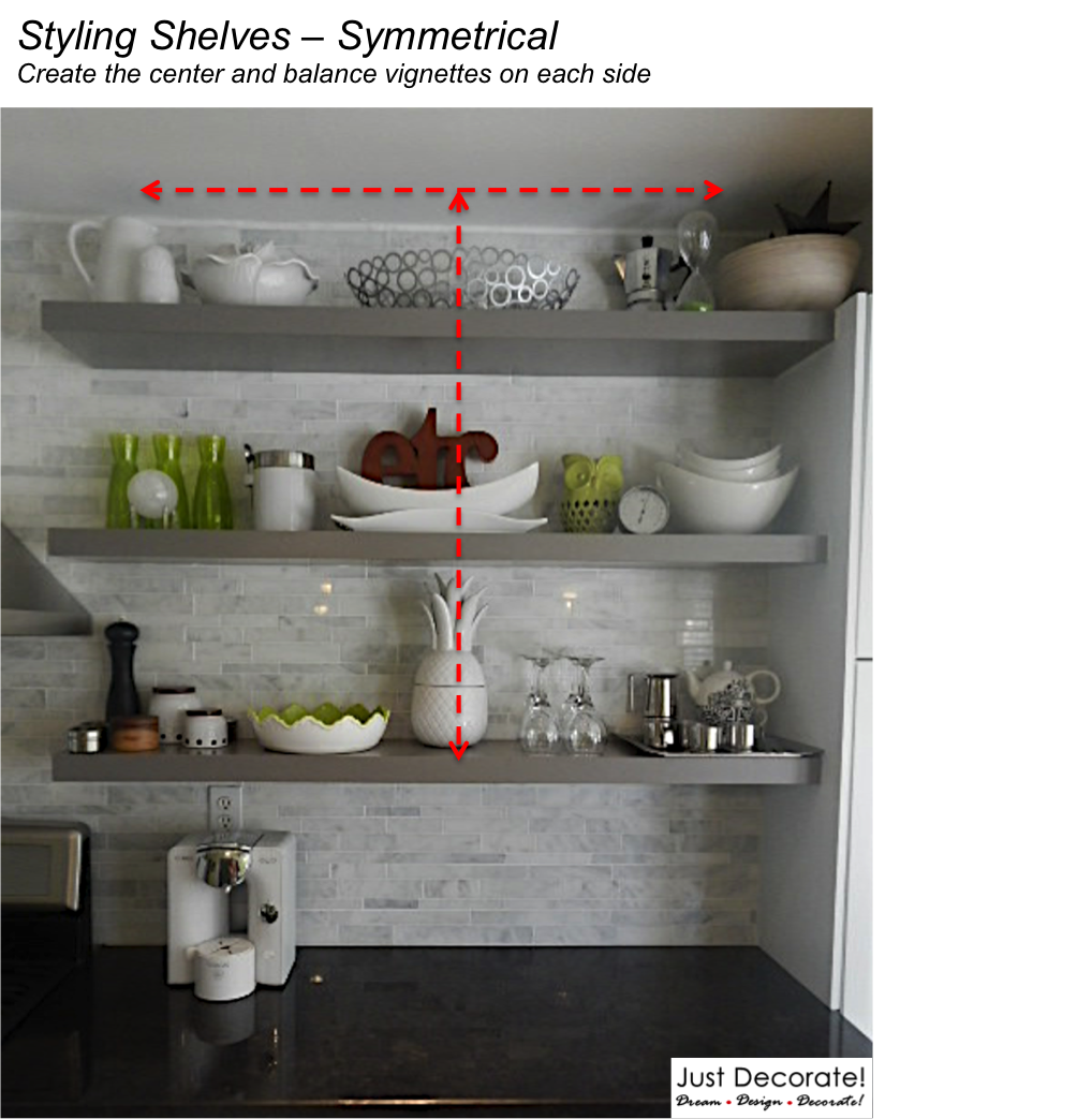 Open Kitchen Shelves Decorating Ideas: 2 Simple Ways To Styling Shelves Like A Pro!