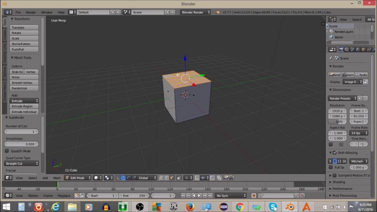 How to subdivide an object in Blender! | blenber