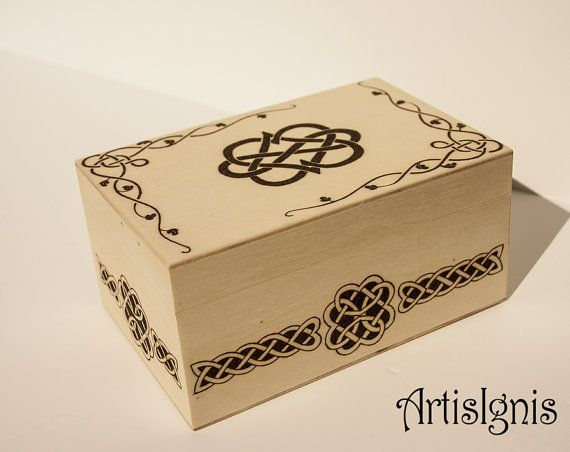 Infinite Love Celtic Jewelry Box Trinket box by ArtisIgnis on Etsy