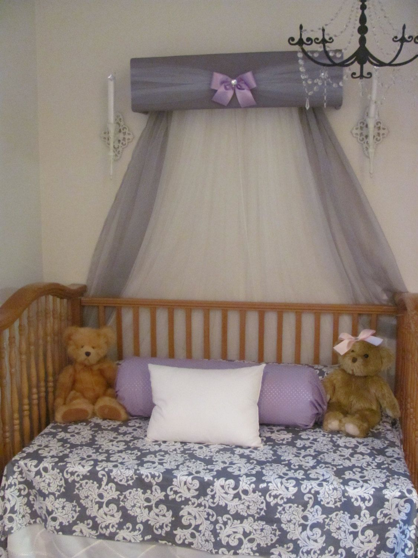 princess bed canopy girl crown pelmet upholstered awning gray white rh pinterest com