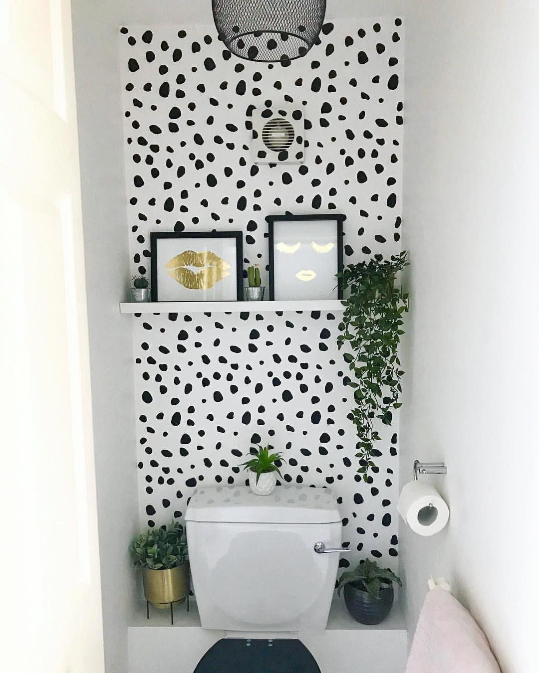 Fun Wallpaper For Half Bath Downstairsloo Fun Wallpaper For Half Bath Bathroomwallpaper Small Toilet Room Wc Ideas Downstairs Loo