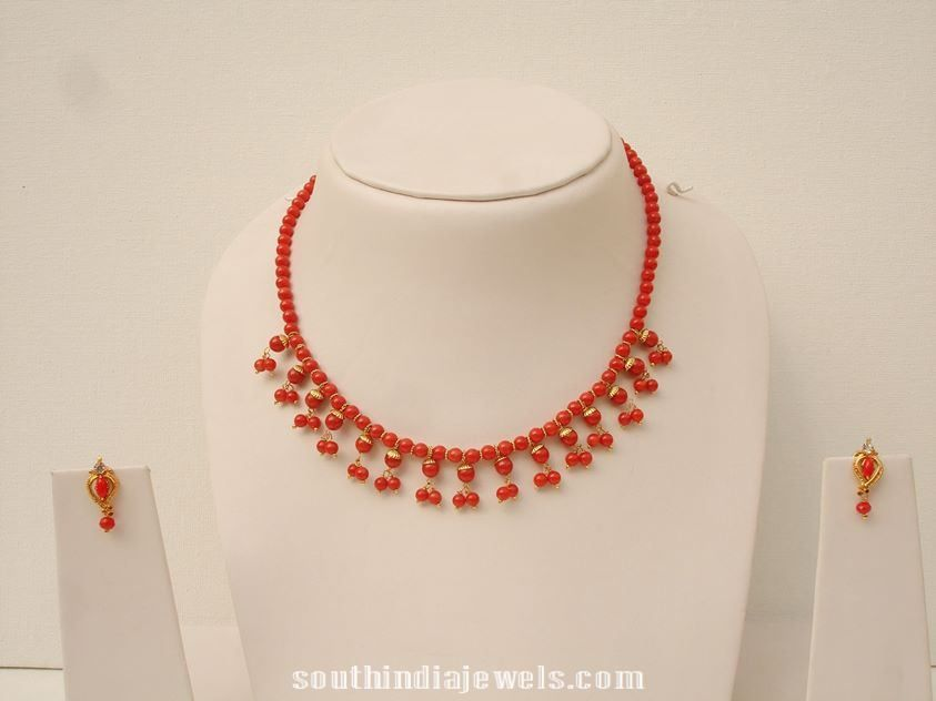 Imitation Coral Necklace latest design | Necklace Collections ...