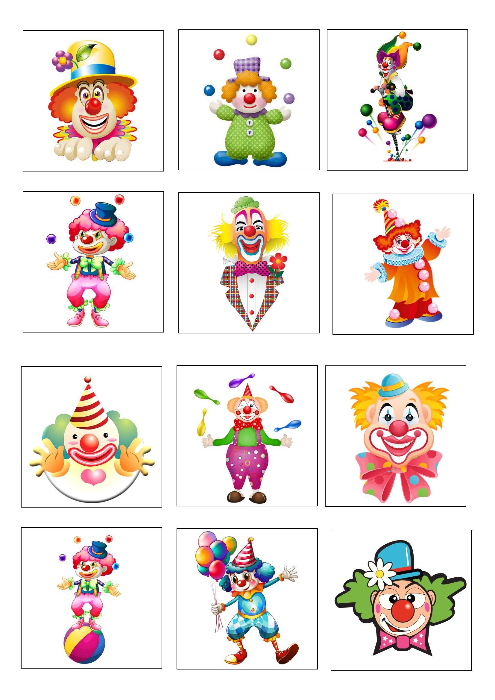 Loto Des Clowns Planche 1 A Imprimer 2 Fois