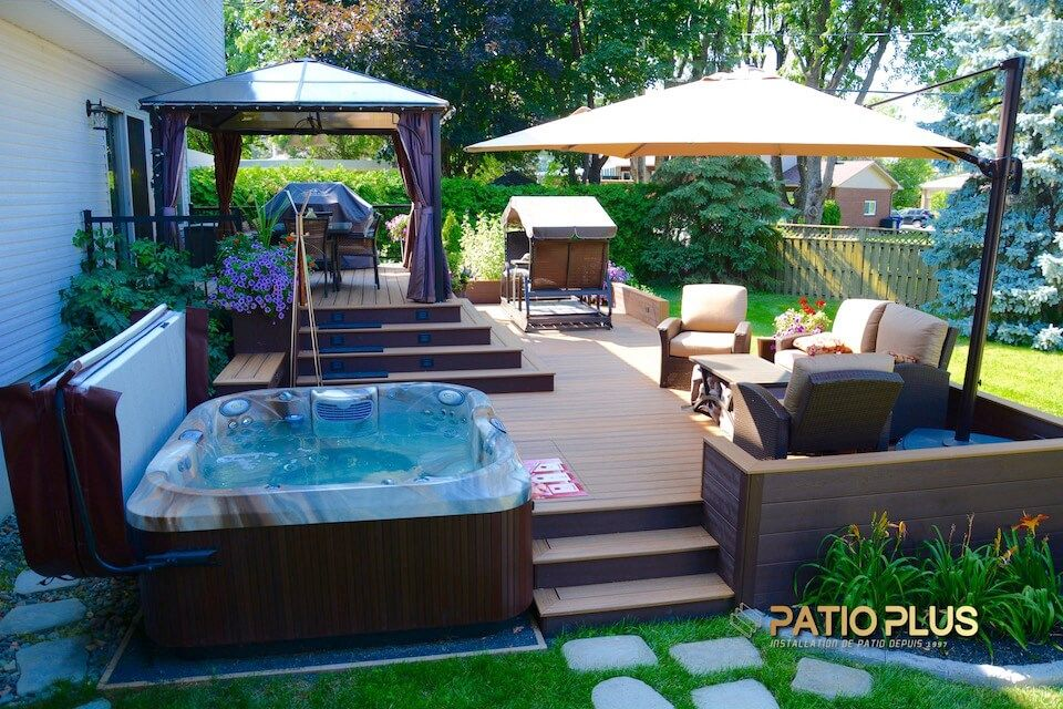 Patio et Spa #hottubdeck