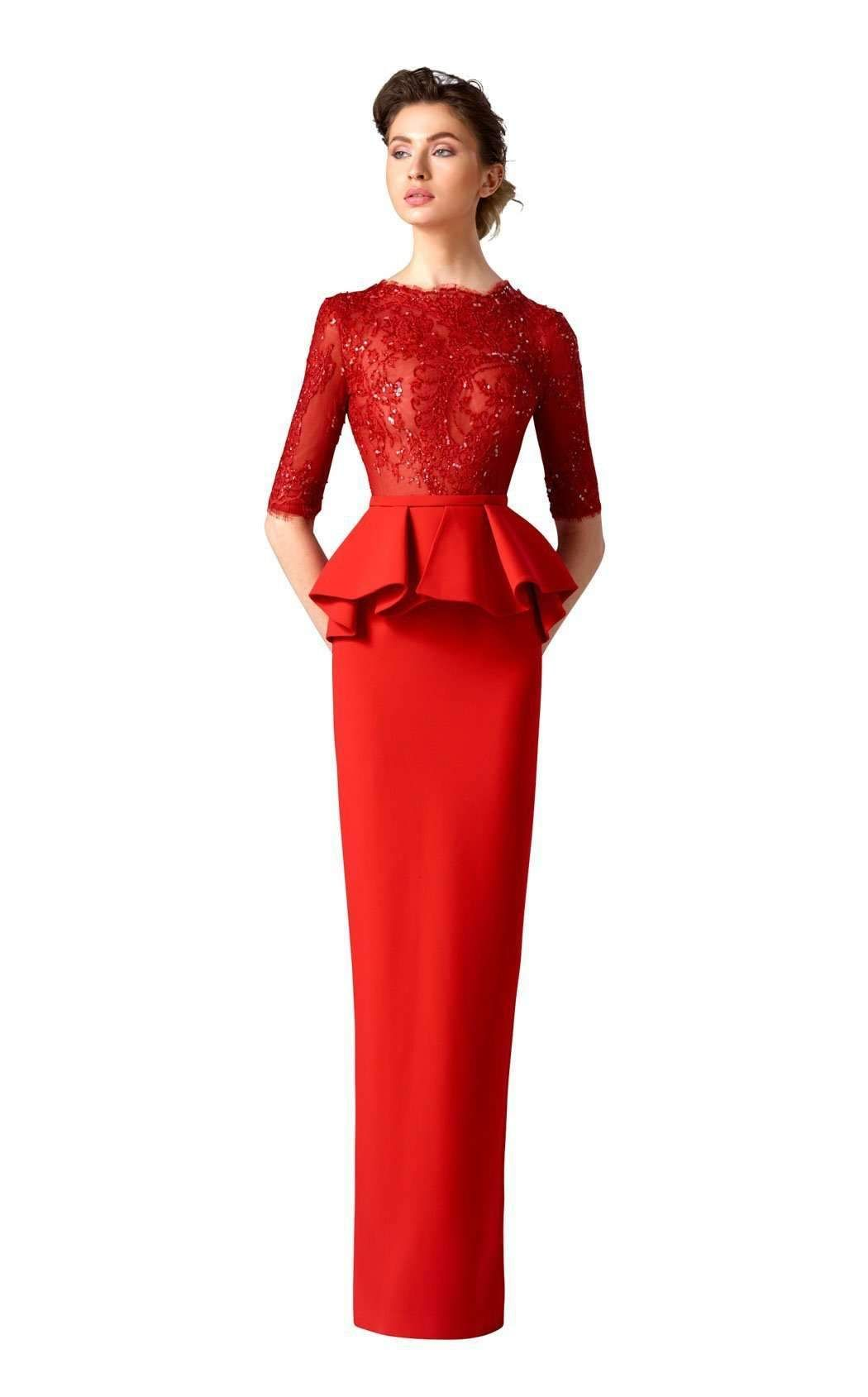 380bcc21a8d6 Edward Arsouni Couture 0296 Peplum Gown, Glamorous Evening Gowns, Slim  Waist, Gowns Online