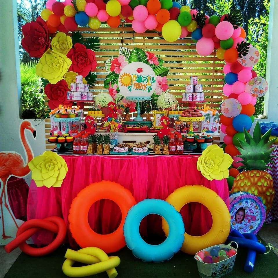 Fiesta de piscina birthday party ideas fiesta de piscina - Ideas para cumpleanos en piscina ...