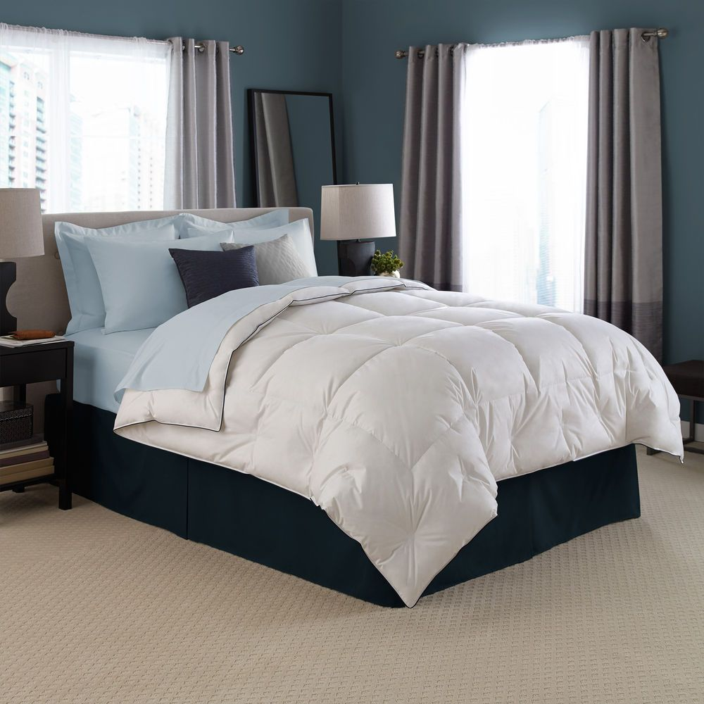 Elegant Hotel White Goose Down Comforter   Pacific Coast Luxury Bedding