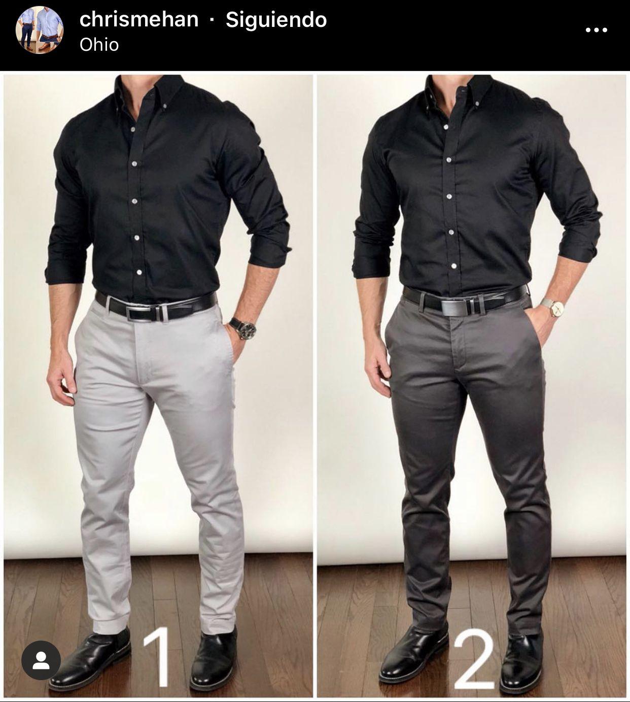 Pin By Hansen Bun On Great Outfit Black Shirt Outfit Men Shirt Outfit Men Pants Outfit Men [ 1383 x 1242 Pixel ]