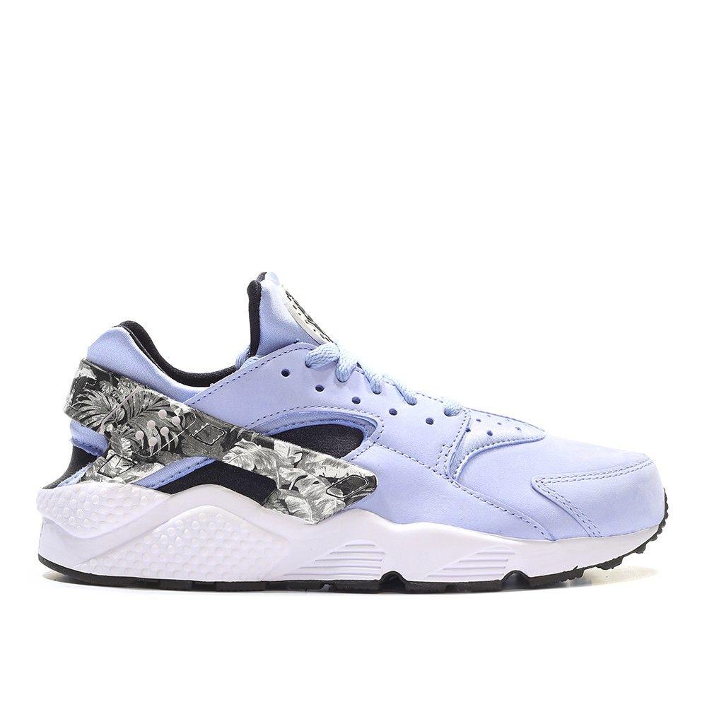 pretty nice 4c67e 9b6db Nike Air Huarache Run Premium Aluminum Floral (blue   black   white)
