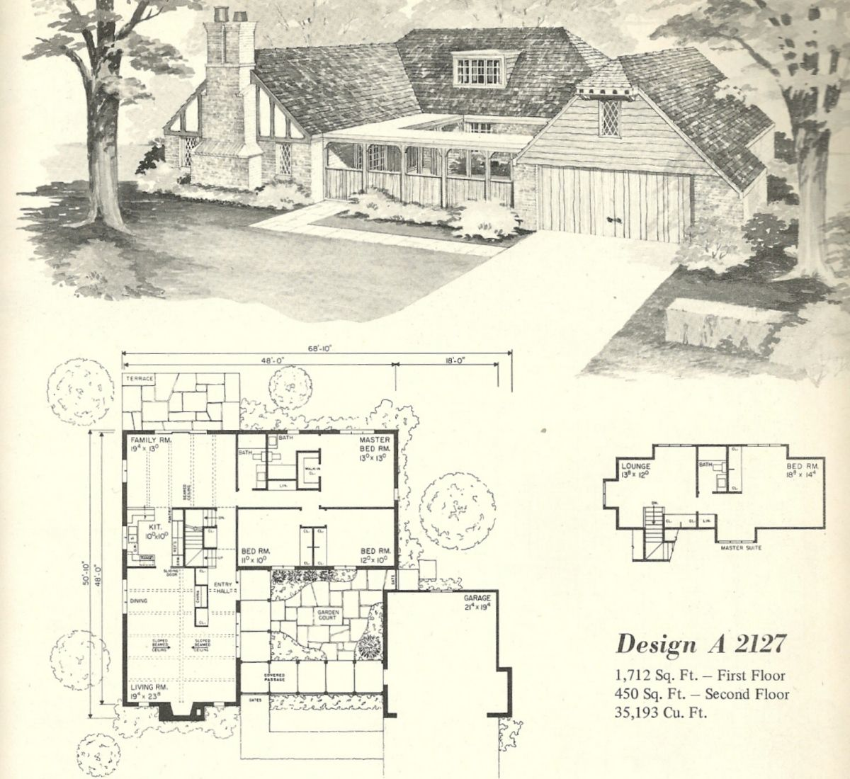 Unique English Tudor House Plans (+9) View | Vintage house ...