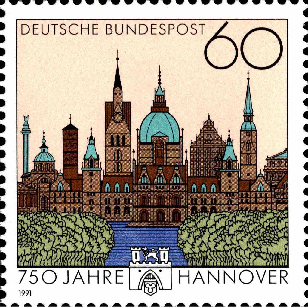 Deutschland 1991 750th Anniv. of Hannover) MiDE 1491,Sn