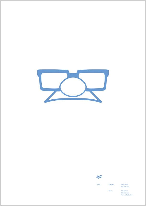 Minimal Pixar poster for UP by Wonchan Lee