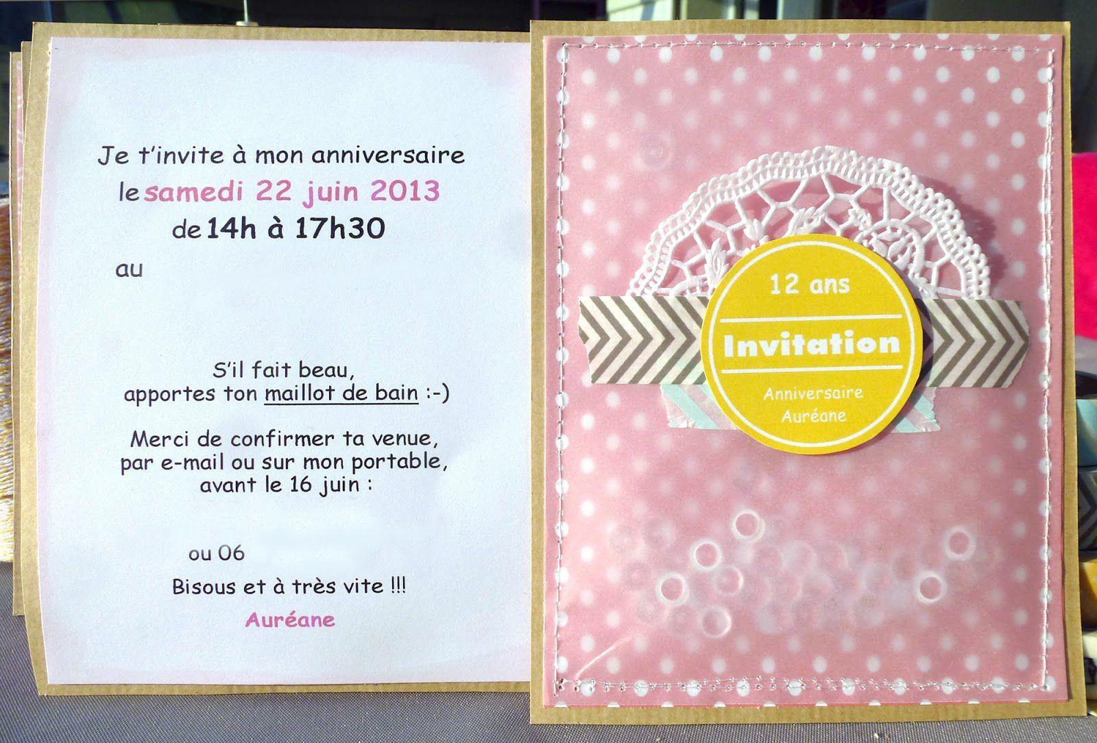 texte d invitation anniversaire en