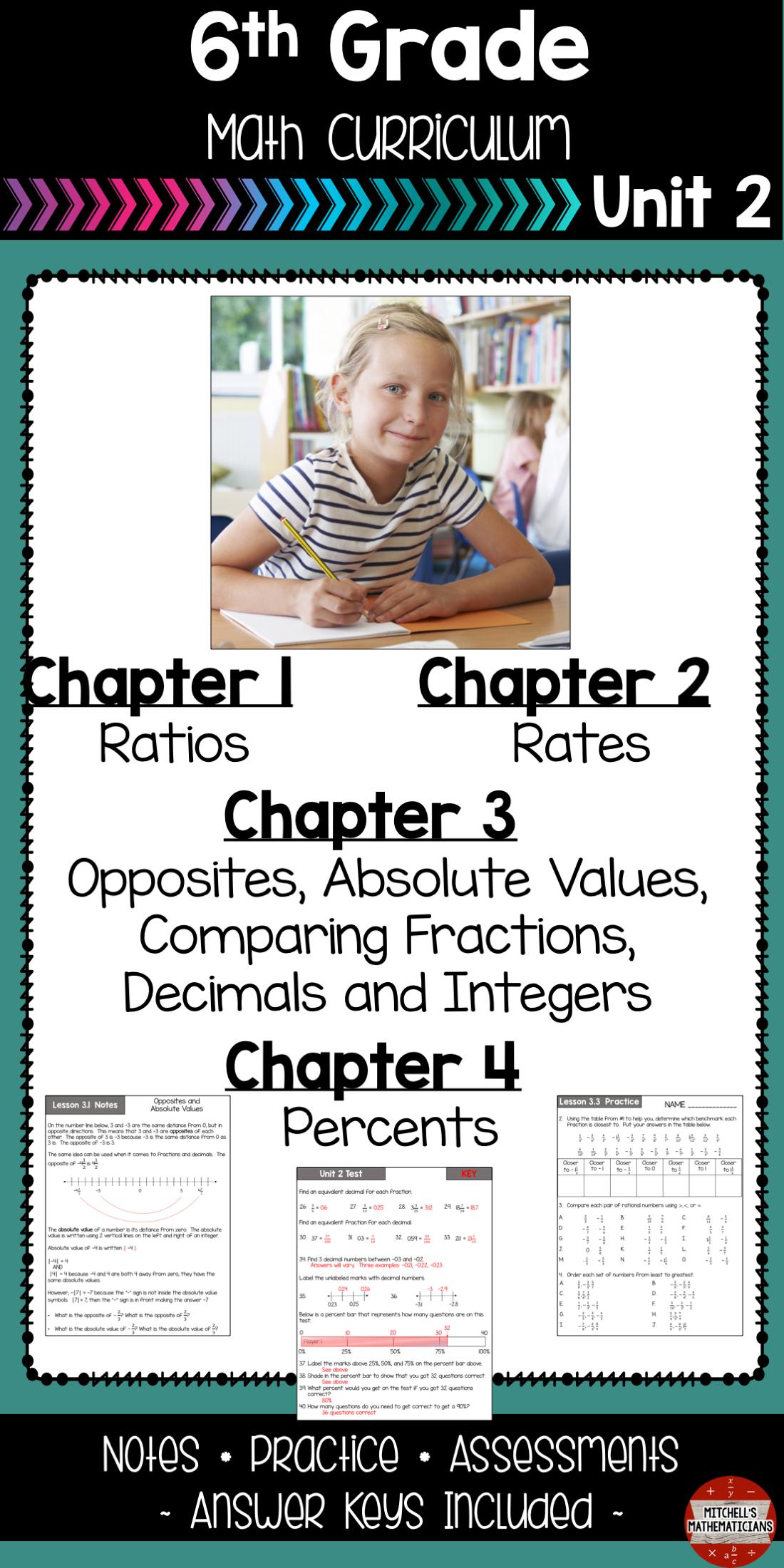 6th Grade Math Ratios Rates Unit Rates And More