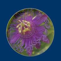 Lilikoi flower plate