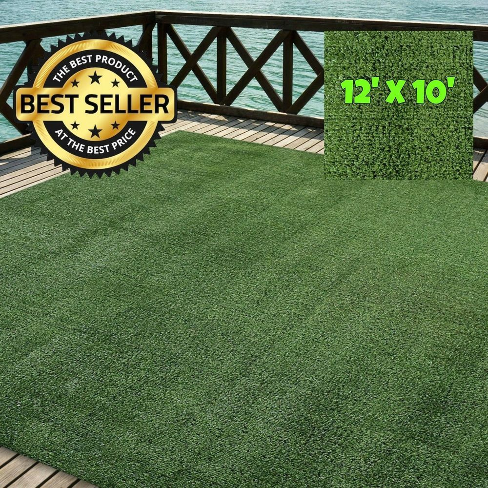 Outdoor Turf Rug Green Artificial Grass Indoor Deck Patio Carpet Mat 12 X 10 Icustomrug Artificial Turf Artificial Lawn Artificial Grass