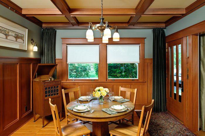 craftsman bungalow interiors traditional interior design deb - Craftsman Dining Room Lighting