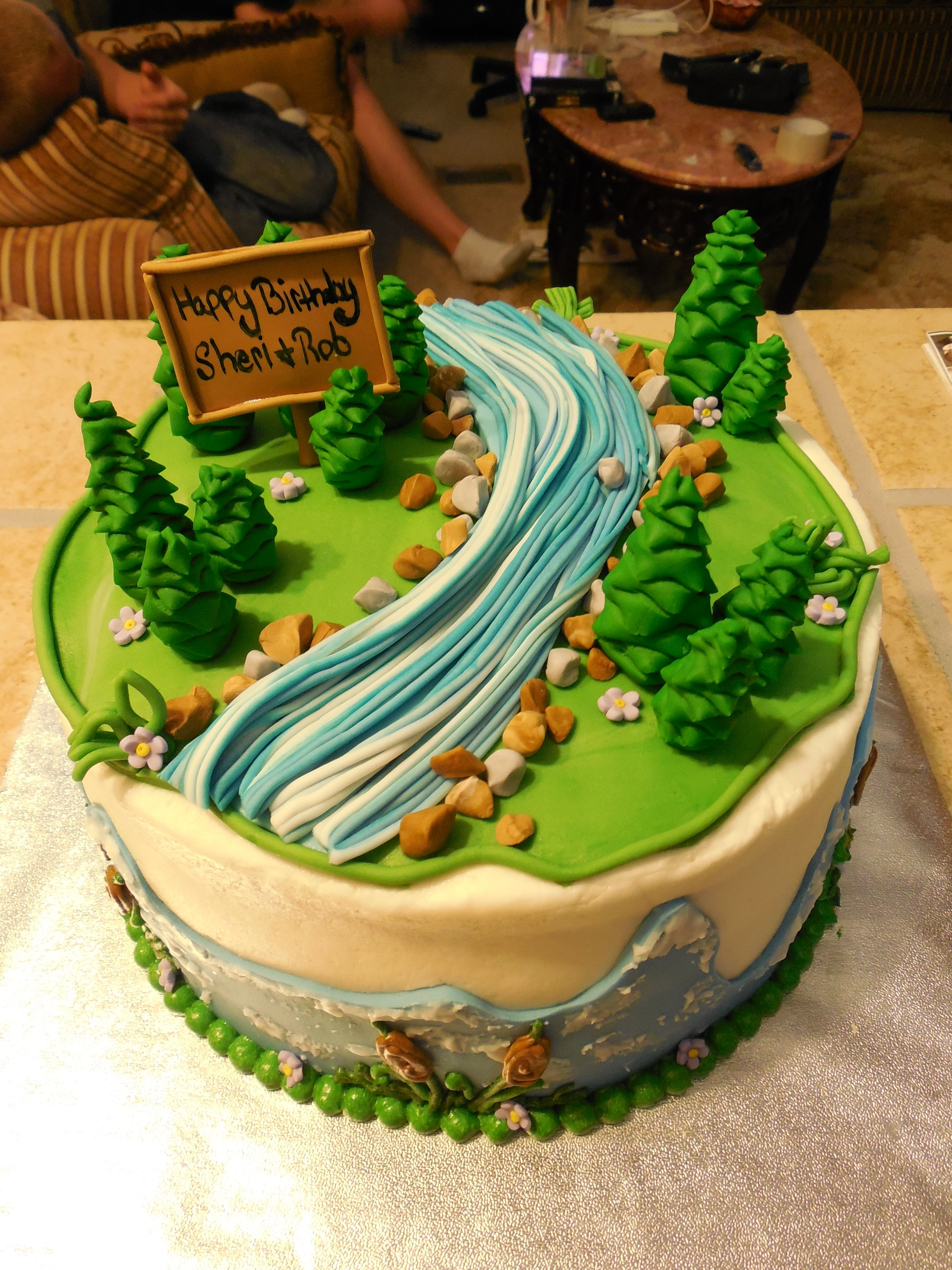 Nature themed cake Cakes Pinterest Cake