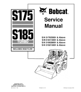 BOBCAT S175, S185 SKID STEER LOADER SERVICE REPAIR MANUAL