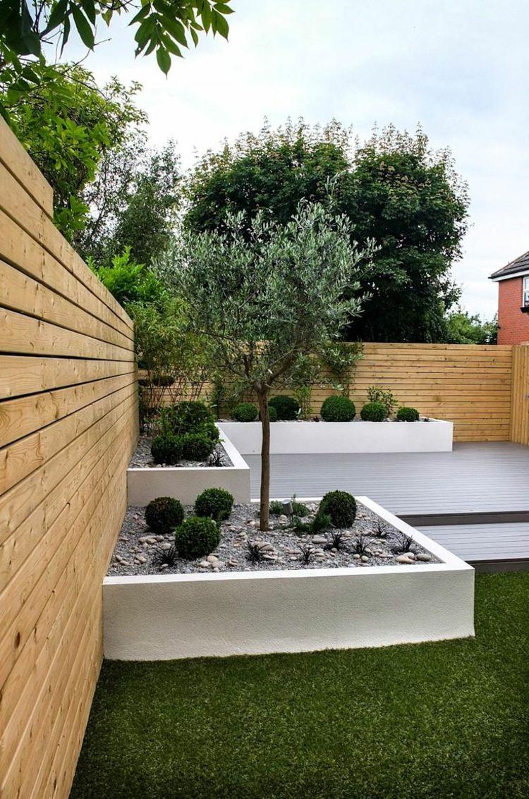 Garten Im Quadrat Gestalten Kleine Grosse Aussenbereiche Strukturieren Minimalistischer Garten Pflegeleichter Garten Garten