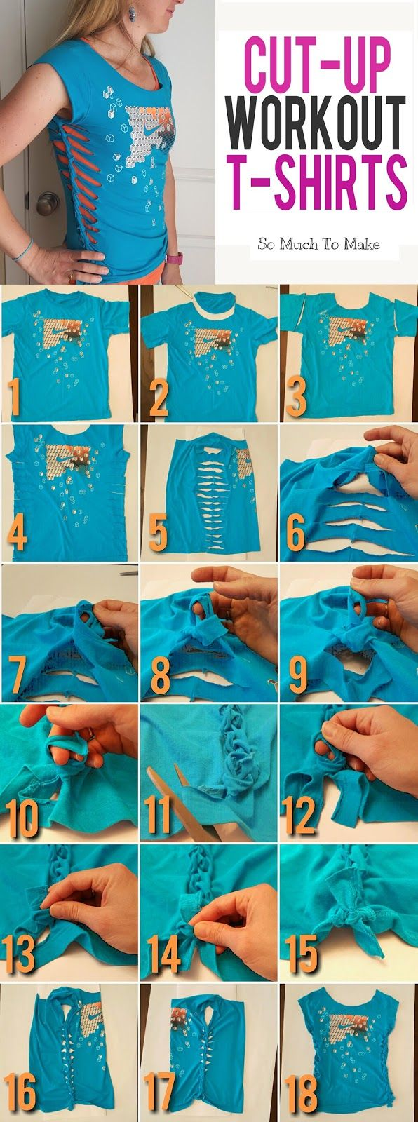 Cut up workout t shirt tutorial shirt tutorial shirt for How do they make t shirts