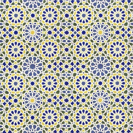Middle Eastern Tile Pattern In Blue And Yellow 40 Art Print Ideas Gorgeous Middle Eastern Patterns