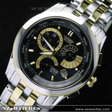 BUY Citizen Eco-Drive 100m Perpetual calendar BL8005-77E Gold Black - Buy  Watches Online  b2c67ddba