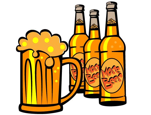 Free Beer Bottle Vector Clip Art Beer Bottle Art Beer Bottle Drawing Beer Illustration
