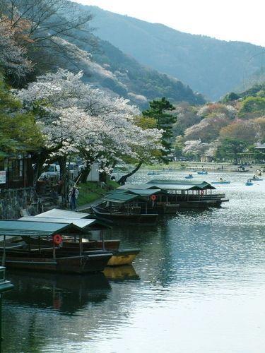 Arashiyama District in Kyoto, Japan