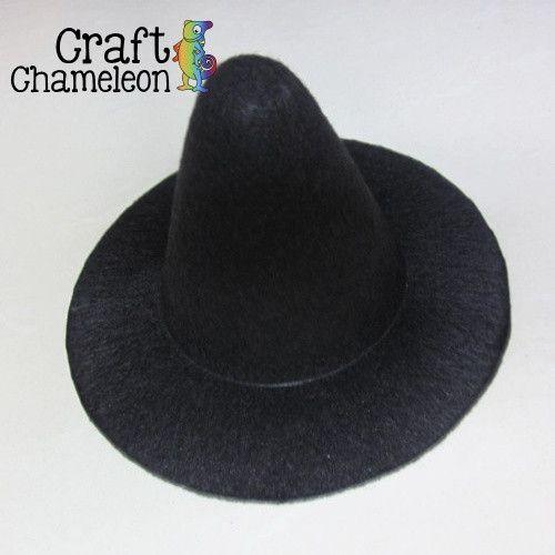 Set of 5 ~ Mini Felt Witch Hats