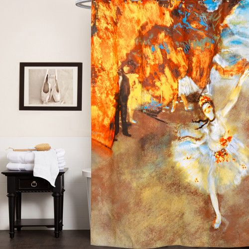 """Found it at Wayfair - Fabric Shower Curtain with Van Gogh Series """"The Star"""" Print (70""""x72"""")"""