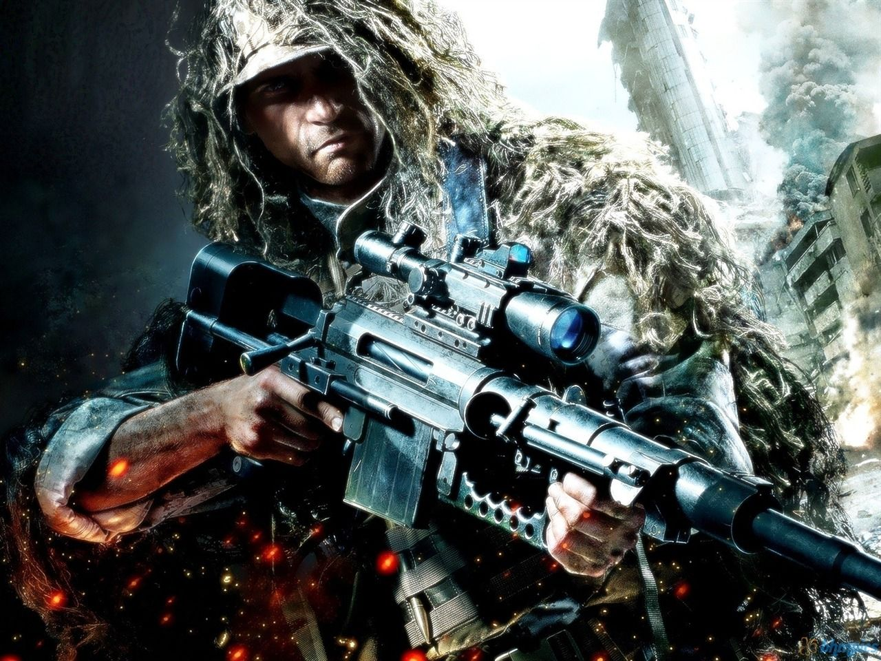 Sniper Rifle HD Wallpapers Backgrounds Wallpaper