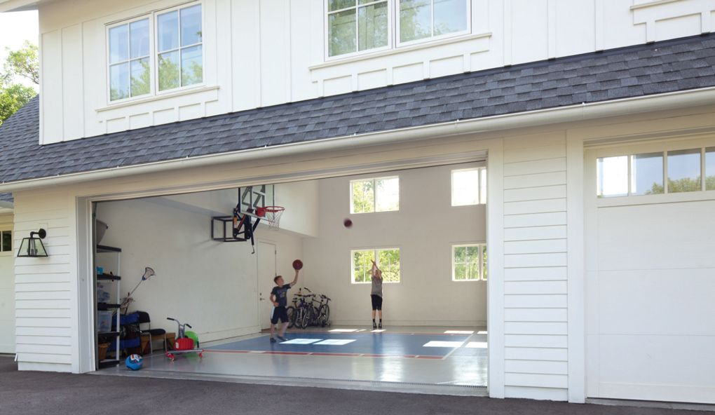 Family Installs a Sport Court Garage in Chanhassen