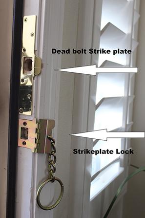 Security Door Lock Cover Plate