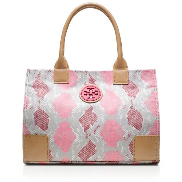 Tory Burch Printed Mini Ella Tote ($195) ❤ liked on Polyvore